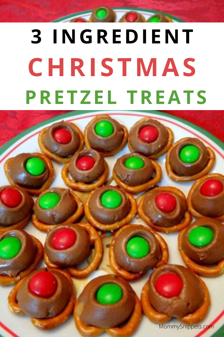 3 ingredient Christmas Pretzel Treats {Recipe}- MommySnippets.com