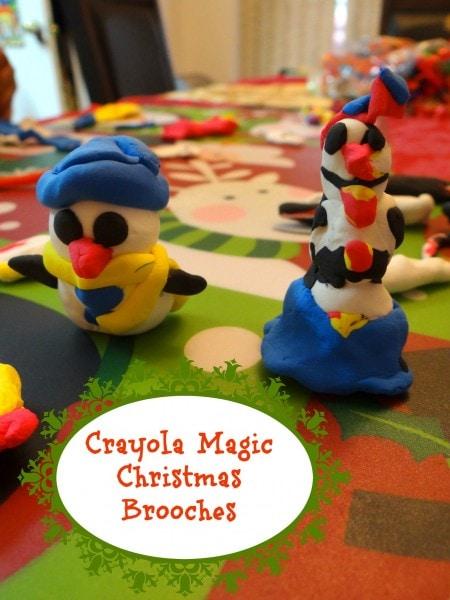 Crayola Magic Christmas Brooches