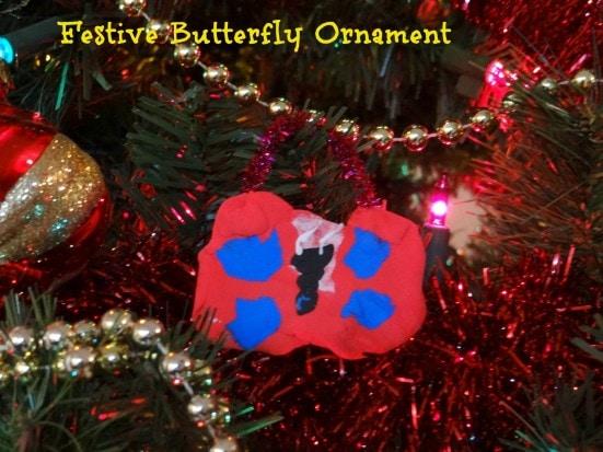 Festive Butterfly Ornament