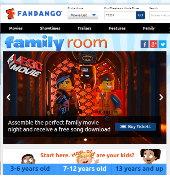 Fandango Family Room – Family Movies – Children Movies