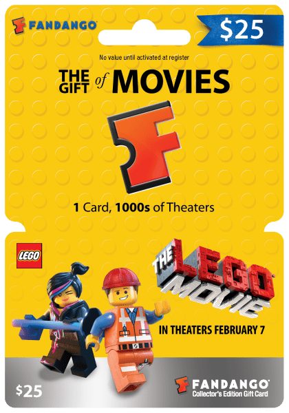 Win a 25$ THE LEGO MOVIE Fandango gift card {Giveaway- 4 winners ...