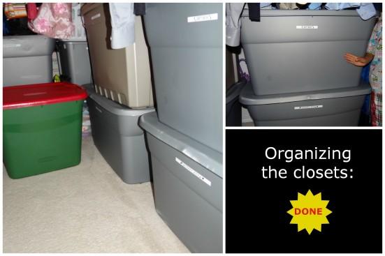 Organizing the closets