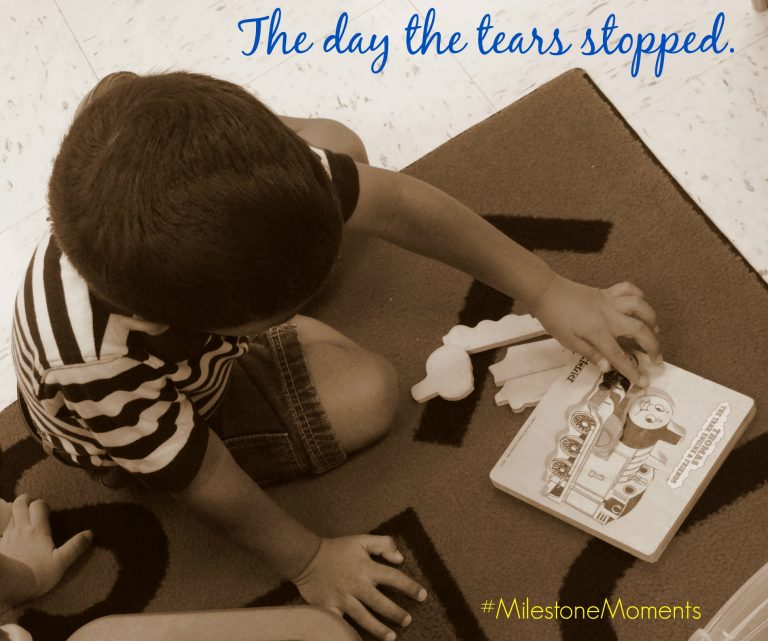 The day the tears stopped. {+ A Pampers #MilestoneMoments Giveaway}