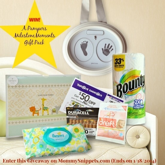 Win a Pampers #MilestoneMoments Prize Pack on MommySnippets.com (Ends 1-18)