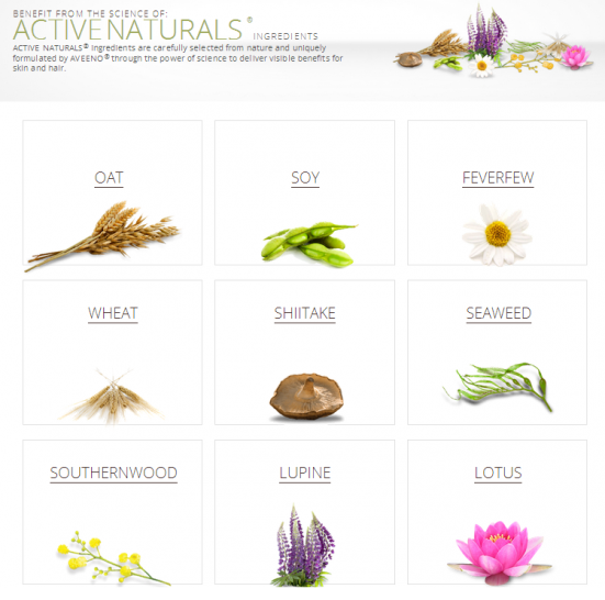AVEENO®ACTIVE NATURALS® Ingredients   AVEENO®