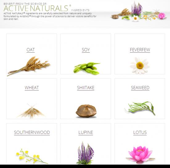 AVEENO®ACTIVE NATURALS® Ingredients   AVEENO®