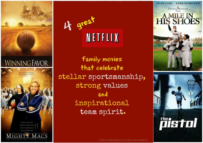 Netflix movies that celebrate stellar sportsmanship, strong values and inspirational team spirit.