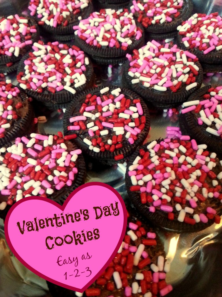These Valentine's Day Cookies are as easy as 1-2-3