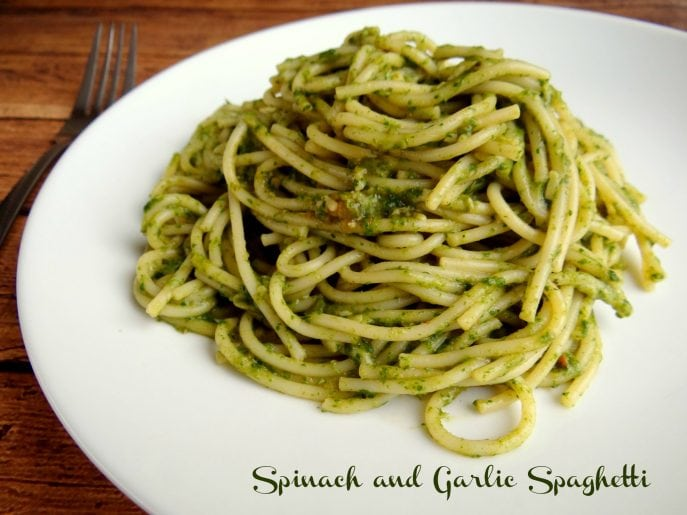 Spinach and Garlic Spaghetti