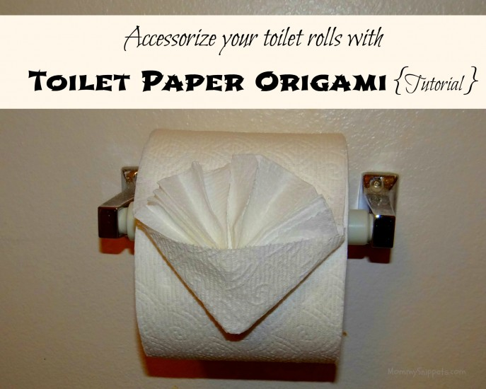 Accessorize your toilet rolls with  Toilet Paper Origami {Tutorial}