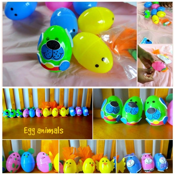 Accessories To Dress Up The Given Easter Egg And Make An Animal