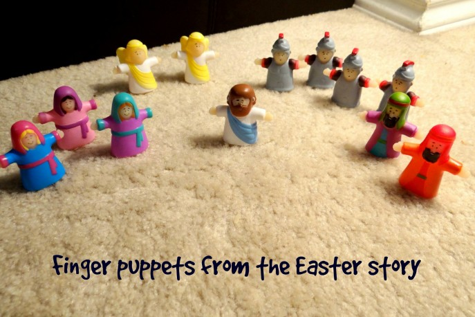 Finger puppets from the Easter story