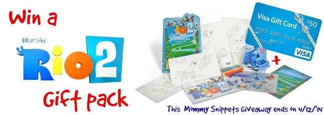 RIO Gift Pack Giveaway ends 4-12 on Mommy Snippets