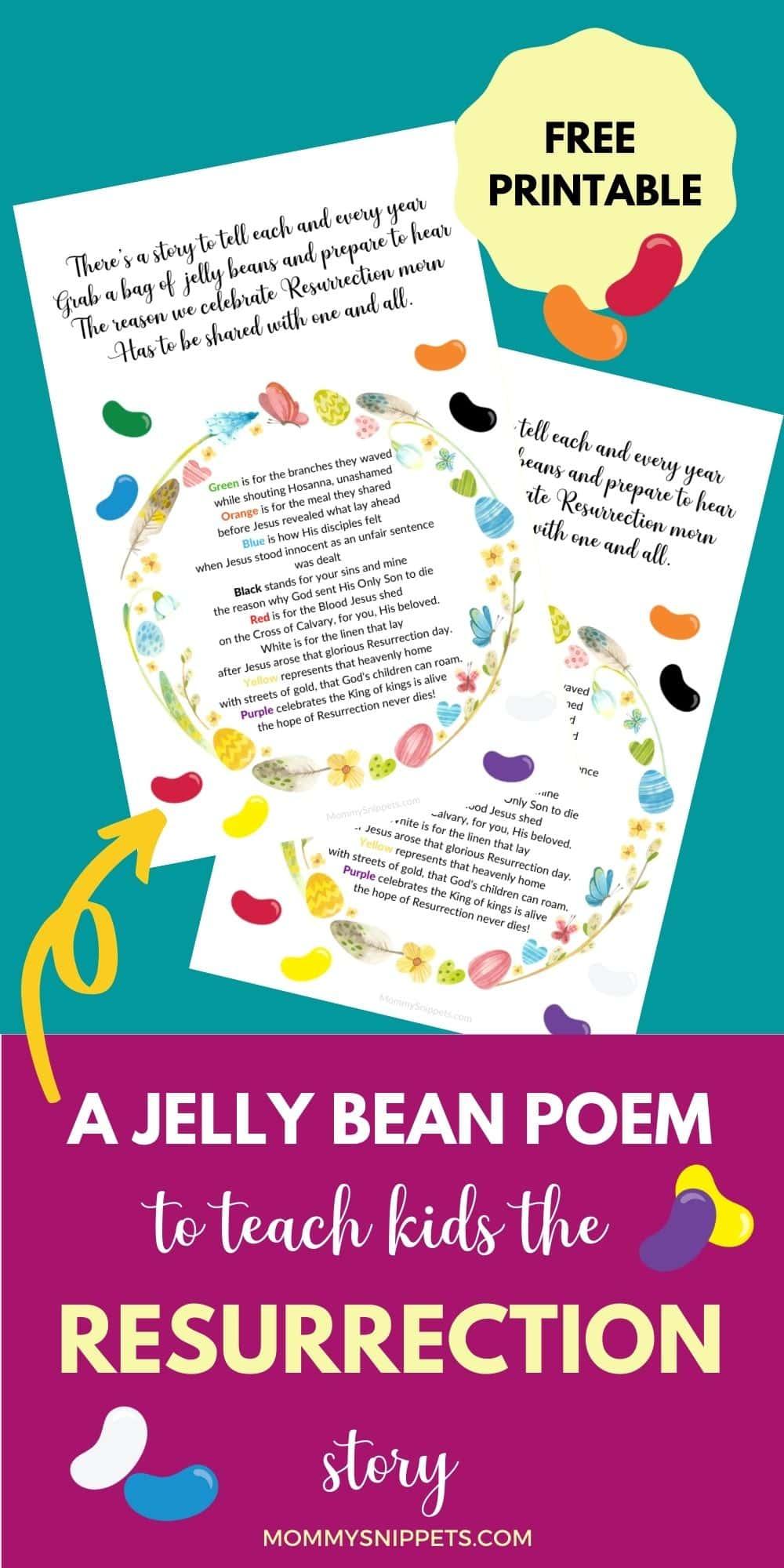 The Jelly Bean Poem Teaches Kids Why We Celebrate Resurrection Sunday (Free Printable)