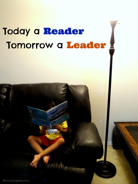 Today a reader. Tomorrow a leader quote.