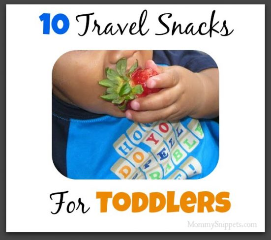 10 Travel Snacks for Toddlers