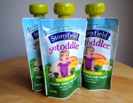Stonyfield organic toddler pouches