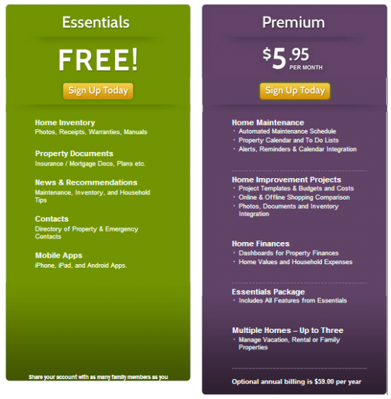 HomeZada   Pricing