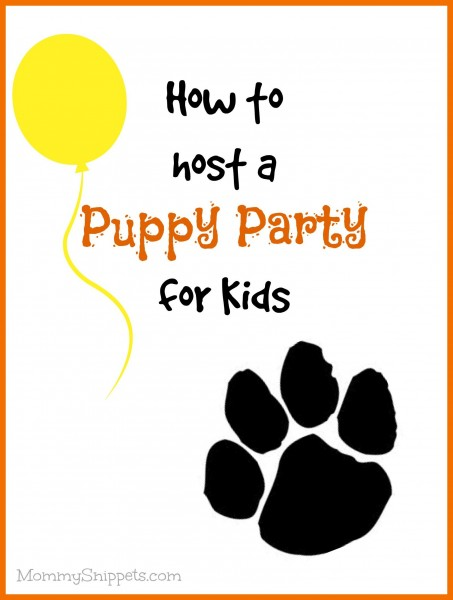 How to host a puppy party for kids