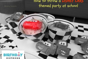 How to throw a Disney Cars themed party at school- Mommy Snippets