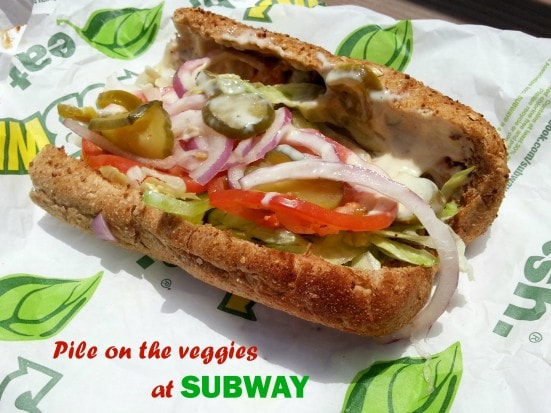 Pile on the veggies at Subway (1)