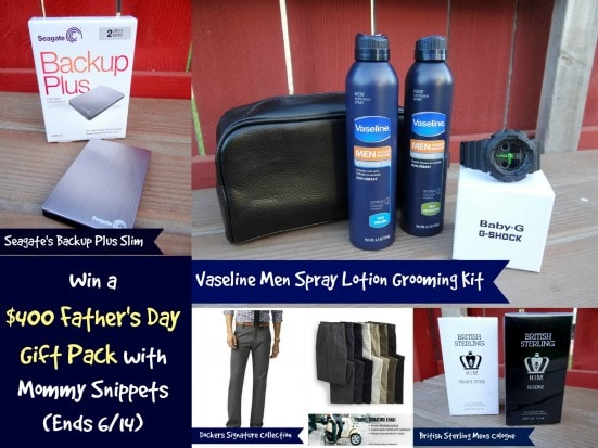 Win a $400 Father's Day Gift Pack with Mommy Snippets (Ends 6-14)