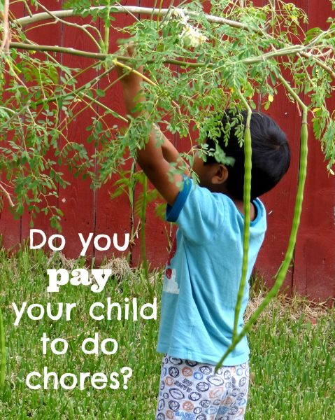 Do you pay your child to do chores