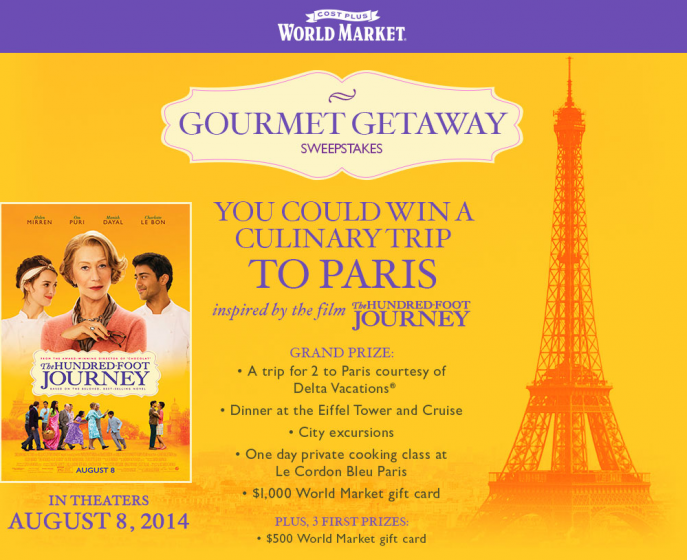 The Hundred-Foot Journey Sweepstakes