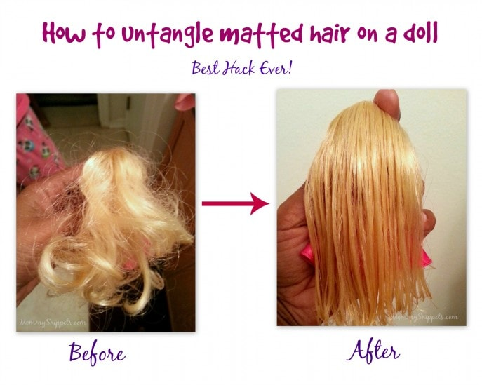 How to untangle matted hair on a doll Best Hack Ever!- with Mommy Snippets