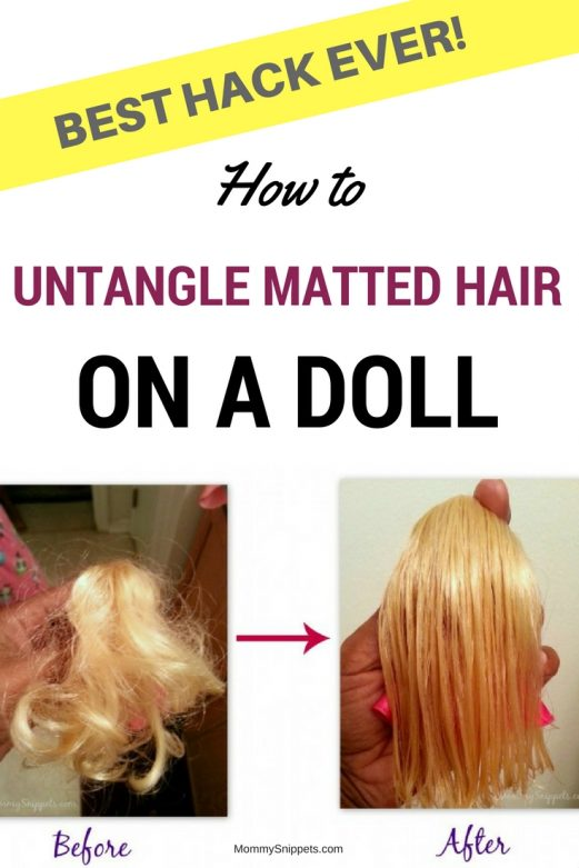How to untangle matted hair on a doll. (Best hack ever!)- MommySnippets.com