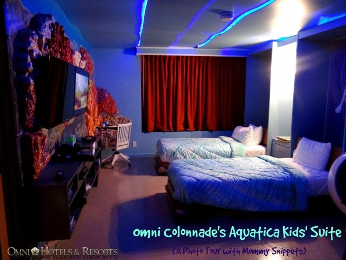 Omni Colonnade's Aquatica Kids' Suite (A Photo Tour with Mommy Snippets)