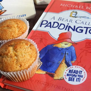 Orange Marmalade Nut Muffins and Paddington