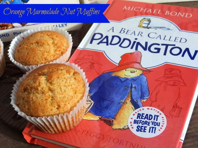 Orange Marmalade Nut Muffins and Paddington Bear
