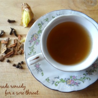 Homemade remedy for a sore throat