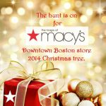 The hunt for Macy's Boston Downtown Crossing store's 2014 Christmas tree is on!