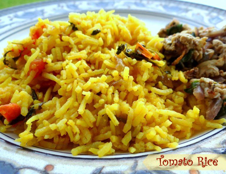 Tomato Rice {My Quick Comfort-Food-On-A-Rainy-Day Recipe}