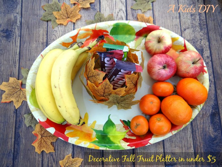 Making a Decorative Fall Fruit Platter in under $5 {A Kids DIY}