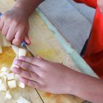 Encouraging a love for cooking in a child {+ A Quick Fix Veggie Saute recipe}