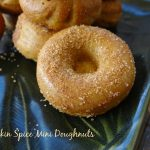 Pumpkin Spice Mini Doughnuts {And yes, Nocciolata topped doughnuts too!}