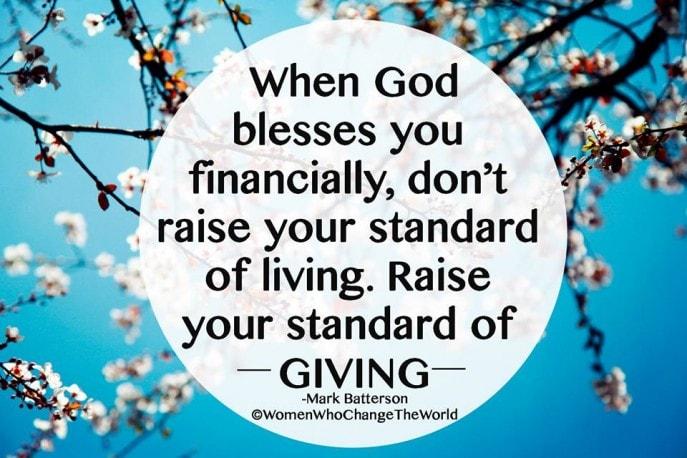When God blesses