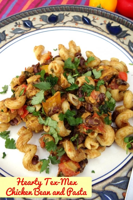 Hearty Tex-Mex Chicken Bean and Pasta