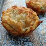 Spinach Cheese Pizza Muffins {Recipe}