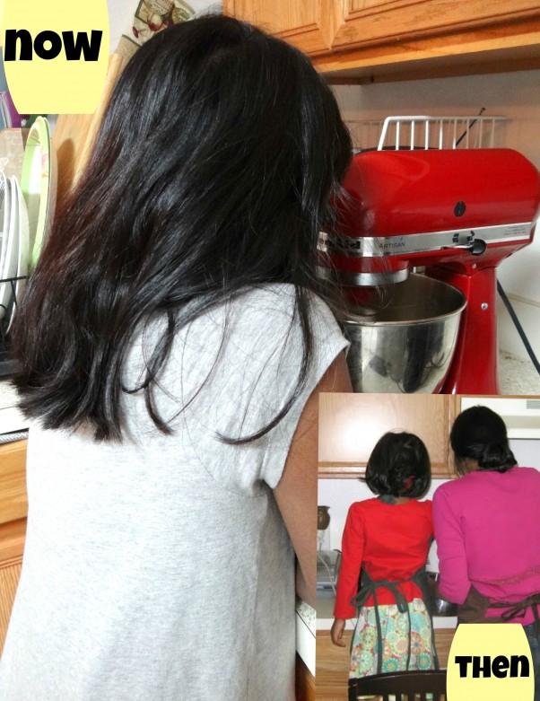 child baking Christmas treats