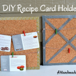 A DIY Recipe Card Holder and a DIY Bow Holder {2 #HandmadeHoliday Ideas}