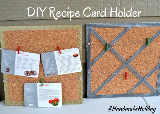 A DIY Recipe Card Holder and a DIY Bow Holder {2 #HandmadeHoliday Ideas}