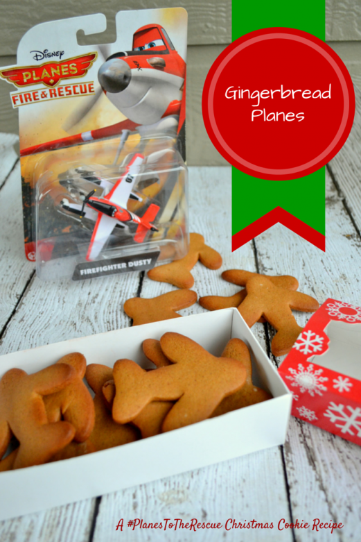 Gingerbread Planes { A #PlanesToTheRescue Christmas Cookie Recipe}