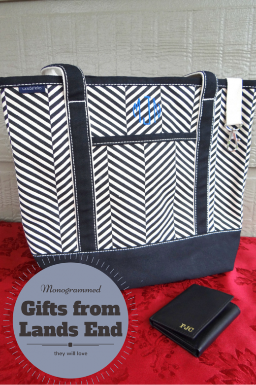 Monogrammed gifts from Lands End they will love