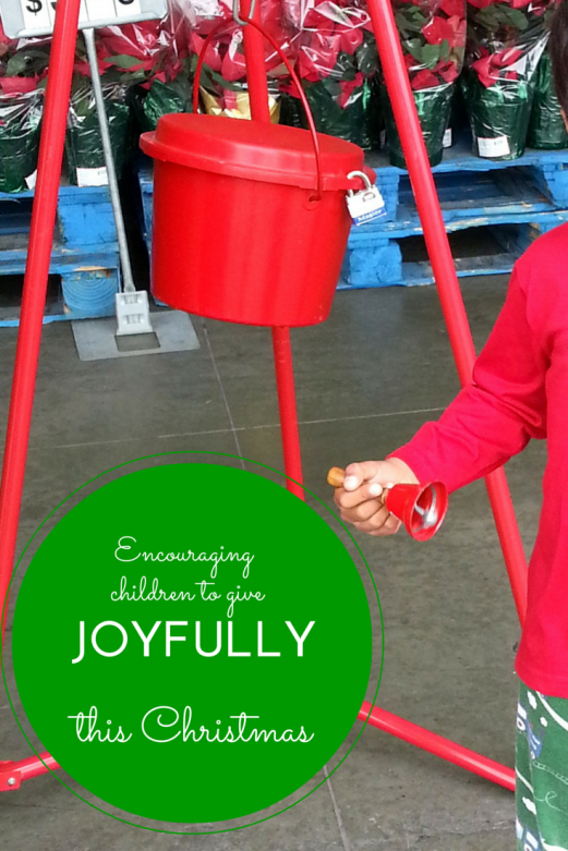 Encouraging children to give joyfully this Christmas