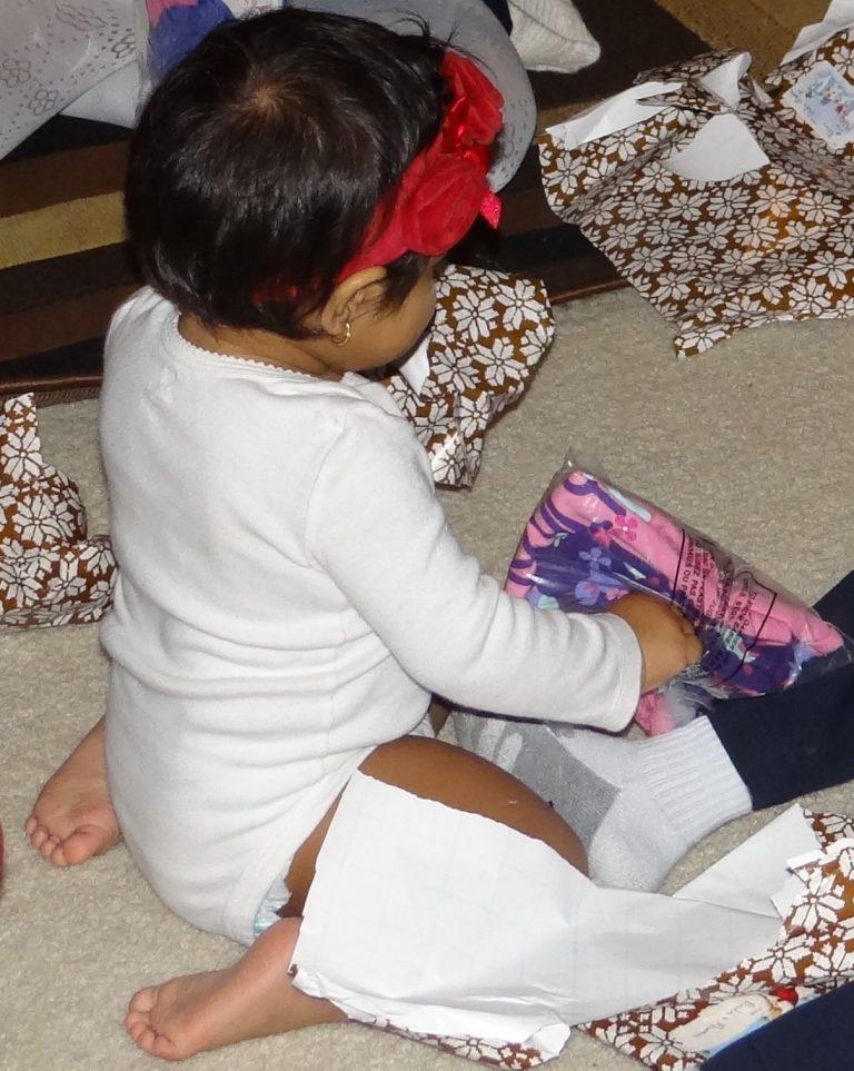 Baby Girl's Christmas Milestone {#BRUMilestones}