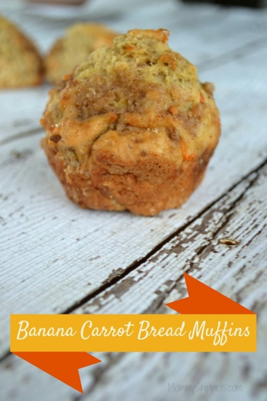 Banana Carrot Bread Muffins- Mommy Snippets